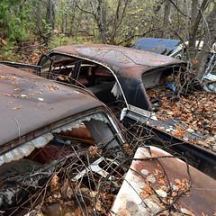 DSC_0175 v2 (collations) Tags: ontario mcleansautowreckers autowreckers wreckers automobiles autos abandoned rockwood derelict junkyards autograveyards carcemeteries