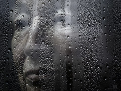 window tears (marianna_a.) Tags: portrait lady senior desaturated window water drops tears seethrough transparent translucent glass mariannaarmata p3030798 face