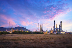 Oil refinery industry (Patrick Foto ;)) Tags: auto automobile boil boiler capacity chemical chemistry chimney energy engineer engineering environment factory fuel gas gasoline heavy industrial industry landscape light liquid manufacturing metal night oil petrochemical petroleum pipe pipeline plant pollutant pollute pollution power product production refine refinement refinery sky smoke sphere steam storage tank technology tower worker laemchabang changwatchonburi thailand th