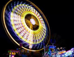 All the fun of the fair (hxsaint08) Tags: night nightshoot light longexposure hornchurch funfair fair ride attraction dizzy canon5dmarkiv canon5dmk4 circle canon trails blue yellow purple