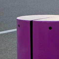 — • Γ • (MyArtistSoul) Tags: oxnard ca lines curves holes purple metal cylinder asphalt street simple minimal abstract urban square 1869