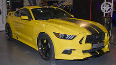 Ford Mustang (Greeney5) Tags: ford mustang fordmustang car carshow auto automobiel automobile autoshow veltmanracing yellow geel