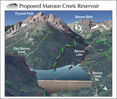 Maroon-Creek-proposed-reservoir-wilderness workshop (aspenpublicradio) Tags: map maroon creek proposed dam dams water rights castle reservoir pitkin county