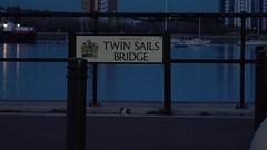 Twin Sails Bridge, Poole England (Mark Rigler UK) Tags: poole dorset england twin sail bridge night shot mark rigler road light streak slow shutter