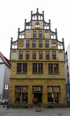 IMG_5431 (jaglazier) Tags: 15thcentury 15thcenturyad 2016 91716 architecture bielefeld buildings cityscapes copyright2016jamesaglazier crafts germany gothic houses limestone northrhinewestphalia roofs september stoneworking tracery windows art clouds gingerbread reconstructed restored shops stonebuildings streetscapes