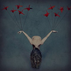 paper wings (brookeshaden) Tags: brookeshaden fineartphotography conceptualphotography selfportraiture origami