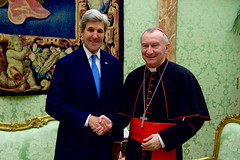 Secretary Kerry Meets With Vatican Secretary of State Parolin at the Vatican (U.S. Department of State) Tags: johnkerry vaticancity vatican pietroparolin