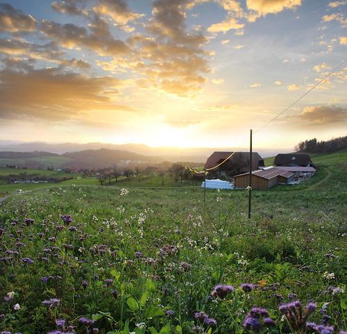 HDR Sunset Bantiger