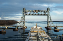 Valleyfield Bridge (dngrby) Tags: architecture bridge waterfront water outdoor boat ship