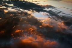 Feeling the same clouds.. (Robyn Hooz (away)) Tags: reflections clouds nuvole sunset tramonto cielo acqua water upside down riflettere lontano