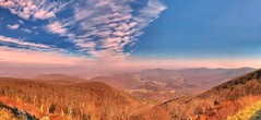 Shenandoah National Park, Va (Mangospoops) Tags: roadtrip drive scenic outdoors travel view high trees color colors fall sky panorama iphone photography landscape beauty mountain mountains overlook cliuds nationalpark