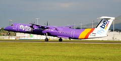FlyBe - British European Bombardier DHC-8-402Q G-FLBD Take-Off (Mark 1991) Tags: edinburgh edi dash8 bombardier dehavilland britisheuropean flybe q400 edinburghairport dehavillandcanada dhc8 gflbd