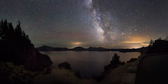 Crater Lake (Sandra Herber) Tags: longexposure night oregon stars nikon astrophotography nikkor milkyway craterlakenationalpark d610 1424mm