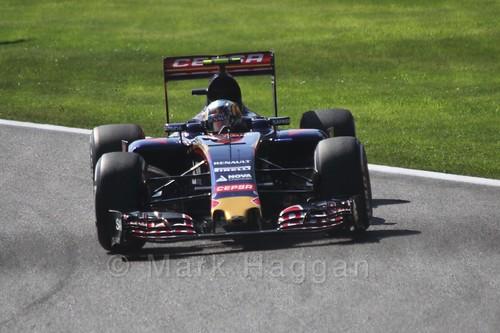 Carlos Sainz Jr in Free Practice 3 at the 2015 Belgian Grand Prix