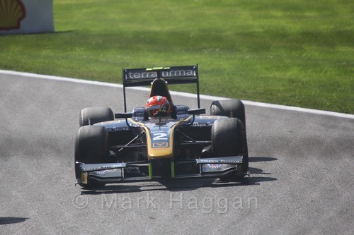 Alex Lynn in the GP2 Sprint Race at the 2015 Belgium Grand Prix