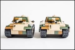 COBI Panther Ausf G MOD (Set 2466) (Adam Purves (S3ISOR)) Tags: building brick set army mod king tank lego g military tiger small wwii german ww2 block panther cobi panzer redesign moc wermacht 2466 ausf