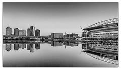 A Docklands mirror - Melbourne (Aperture Variance) Tags: world city travel urban white black water monochrome mirror aperture photos stadium australia melbourne victoria docklands maciej etihad variance 500px ifttt nadstazik