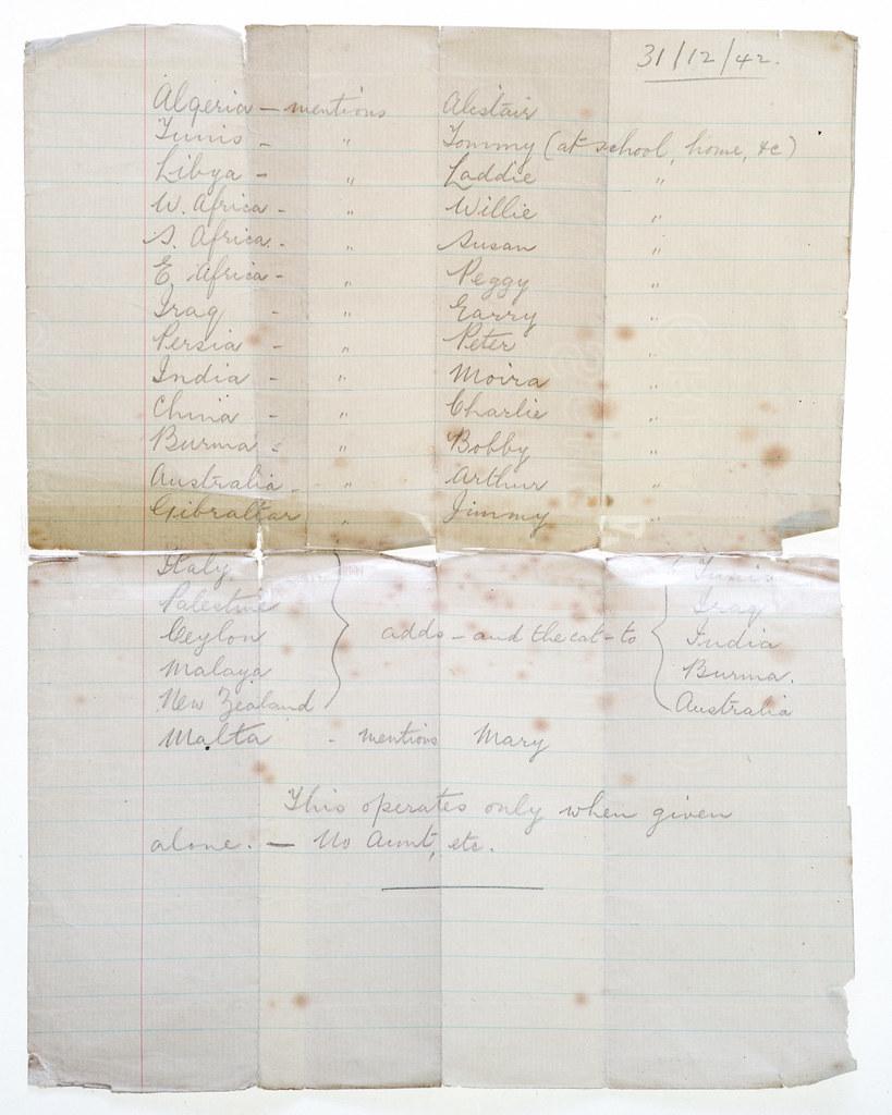 Carol primrose - Family archive WW2 Bill Primrose material