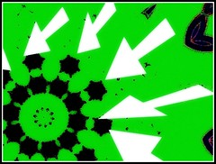 White Arrows & Black Gear With Green Background - Abstract Photo Created by STEVEN CHATEAUNEUF On September 3, 2015 (snc145) Tags: white abstract black green photoshop design photo bright artistic digitalart creative vivid gear processing arrows strong cropped striking powerful bold editedimage paintshoppro6 stevenchateauneuf september32015