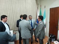 Romário e autoridades de Niterói