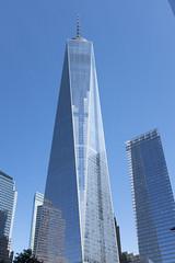 Sharp Glass (wwward0) Tags: nyc morning newyork building tower us unitedstates outdoor manhattan worldtradecenter sunny bluesky financialdistrict cc wtc 7worldtradecenter fidi 1worldtradecenter wwward0