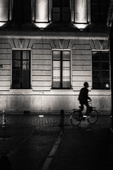 Stillness in motion (VinnyM8) Tags: street leica blackandwhite silhouette utrecht summilux m9