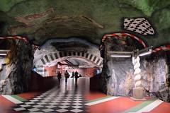 Kungsträdgården station, Stockholm, Sweden (rchappo2002) Tags: city art station t europe sweden stockholm bahn bana ulrik kungsträdgården 2015 samuelson undergrount