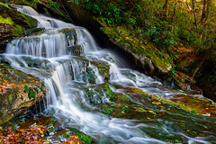 20151011 WV Elakala Falls In The Fall058 (Dan_Girard_Photography) Tags: mountains fall nature water season landscape rocks smooth falls wv flowing silky 2015 elakalafalls dangirardphotography