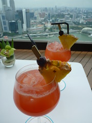 Virgin Slings atop Marina Bay Sands (Figgles1) Tags: bar singapore view lounge flight virgin sling slings marinabaysands p1150926 virginsling virginslings