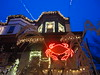 night crab (Zombie37) Tags: xmas blue red sky house holiday night dark lights angle decoration crab baltimore tradition hampden rowhouses 34thst 21211 baygrass