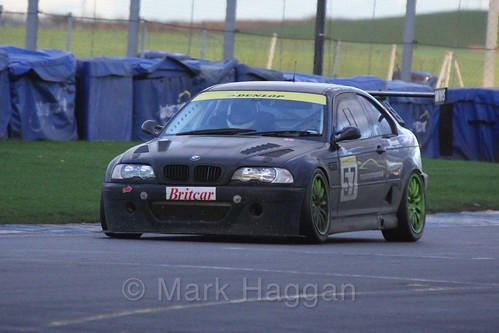 The BMW E46 M3 of Mike Moss in Endurance Racing during the BRSCC Winter Raceday, Donington, 7th November 2015