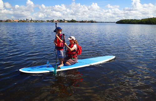 Great weather for learning how to SUP for all ages!