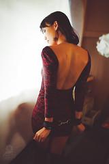 Dariya-7917 (Charleztt) Tags: red stockings girl lady dark asian tone cuffed