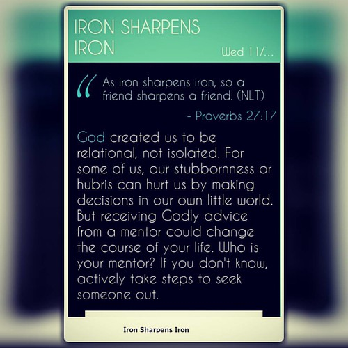 as iron sharpens iron a friend sharpens a friend