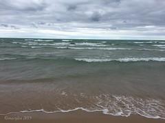 Lake Michigan shore (marylea) Tags: cameraphone summer lake beach water sand michigan shoreline lakemichigan greatlakes shore greatlake familyvacation freshwater ludington 2015