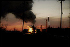 Twilight Steam (Welsh Gold) Tags: sy steam locomotive mine wast spoil train twilight wulong tip fuxin liaoning province china