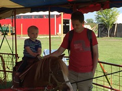 """Paul Rides a Pony with Daddy • <a style=""""font-size:0.8em;"""" href=""""http://www.flickr.com/photos/109120354@N07/22856820779/"""" target=""""_blank"""">View on Flickr</a>"""