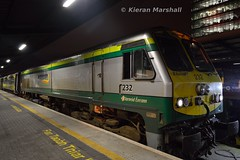 232 at Heuston, 18/12/15 (hurricanemk1c) Tags: dublin irish train gm rail railway trains railways irishrail 201 232 generalmotors heuston 2015 emd iarnród éireann iarnródéireann 1700heustoncork