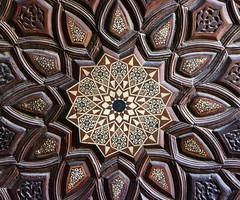 Cairo Northern Cemetery Khanqah of Sultan al-Ashraf Barsbay (1432) Minbar Detail (1) (Bruce Allardice) Tags: egypt ivory cairo sultan inlaid minbar mamluk easterncemetery northerncemetery khanqah sultanalashrafbarsbay alashraf barsbay tombsofthecaliphs