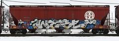 Wyse (quiet-silence) Tags: railroad art train graffiti railcar graff sws d30 hopper freight bnsf fr8 dirty30 wyse bnsf403602