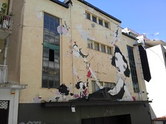 Chora theater ( ) (evlog) Tags: architecture graffiti theater athens greece chora patissia  kypseli   kipseli patisia     amorgou