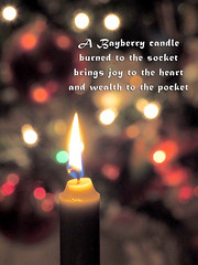 Our family tradition for over 60 years (classymis) Tags: christmas candle flame tradition bayberry bokah bayberrycandle classymis