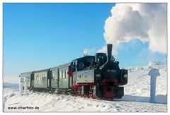HSB - Brocken - 2003-02 (olherfoto) Tags: railroad train eisenbahn rail railway trains steam brocken bahn harz steamtrain narrowgauge dampflok dampfzug schmalspurbahn harzerschmalspurbahnen