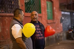 The Day, remembering old childhood ~ BowBarrack Forever (Sandipa Malakar (bristii)) Tags: xmas red india balloons children asia colours neonlights santaclaus aged christmaseve merrychristmas f28 redbrickwall lowlightphotography christmascelebration 25thdecember tamron2470 northkolkata canon6d bowbarrack bowbarrackforever
