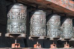 Prayer Wheels (Andrew Luyten) Tags: nepal buddhism himalaya lho westernregion manaslucircuit mountainkingdoms