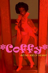 COFFY - the series! (modBarbielover) Tags: red black eye stockings up vintage real pull 1971 hands mod lashes julia legs boots cut lace afro barbie indoor retro mexican bubble africanamerican string fishnets christie 1970 talking mattel bendable pamgrier coffy kneehigh negligee