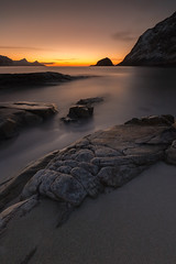 Haukland (christian.denger) Tags: ocean longexposure sea mountain seascape water norway stone canon lens landscape photography eos coast rocks outdoor stones norwegen wideangle atlantic journey lee february filters northern lofoten februar 6d nordland 1635mmf4l chrisdenger elementspictures