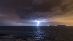 le ramifi solitaire (Janis-Br) Tags: orage instabilit pluie clair mer night foudre