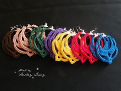 Earings (Lady Lawy) Tags: crochet earing