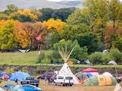 Looking at Rosebud Camp (Sandy*S) Tags: nodapl camp reservation tipi tent fall river northdakota